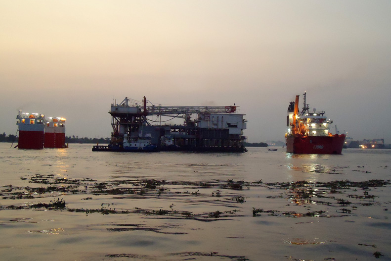 OANDO Respect swamp rig from Lagos to USA for refurbishment